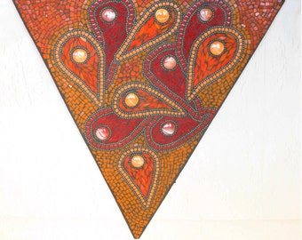 Study in Red and Orange mosaic