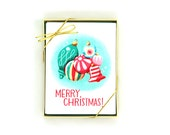 Vintage Ornaments Christmas Card – Set of 8 Greeting Cards