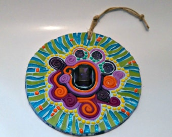 Wall hanging mosaic art, CD art
