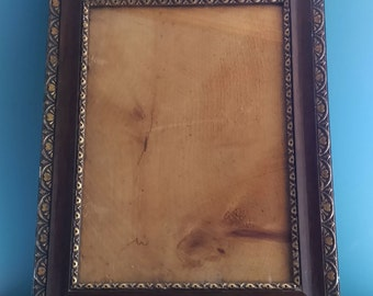 Victorian Simulated Rosewood Picture Frame