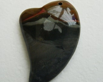 Heart shape ,love heart, Succor Creek Jasper Heart Shape Pendant
