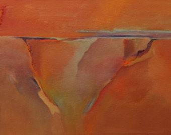 "Desert memories Taos Gorge New Mexico 16""x12"" original oil painting Jan Smiley"
