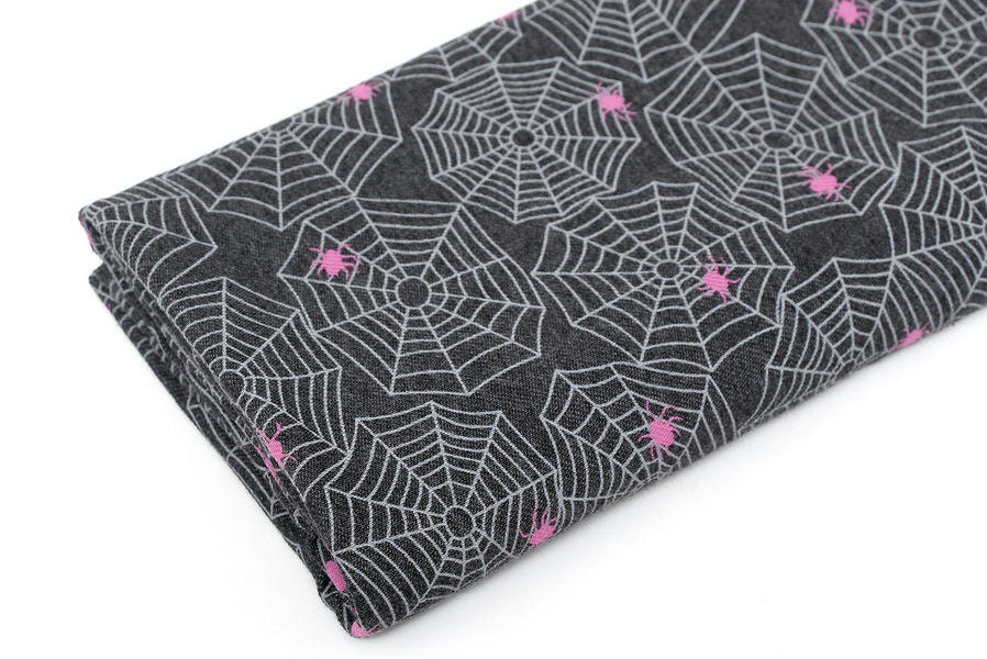 Spider Web Knit Cotton Blend Knit Twill Weave Knit Spiders