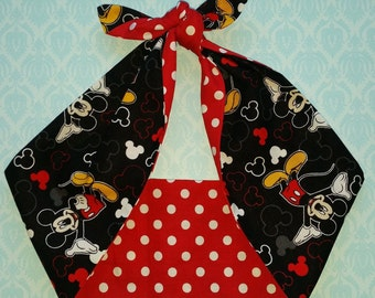 mickey mouse polka dot  rockabilly  bandana,  rockabilly pin up psychobilly  hairband headband