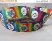 "Autism awareness, puzzle ribbon, rainbow puzzle, Autism Awareness ribbon, 7/8"" Ribbon, Grosgrain Ribbon, puzzle awareness ribbon, RN15002"