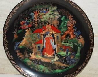 Russian Fairy Tale Plate - 1988 Bradford Exchange - Collectibles - Snow White - Wall Decor - Porcelain - Home Decor - Folk Art - Vintage