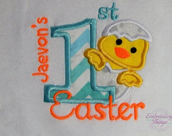 Baby Boy First Easter Outfit. Easter bodysuit for boys. First Easter Shirt for Boys,   Personalized boys first Easter Outfit