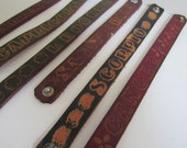 ASTROLOGICAL LEATHER BRACELETS