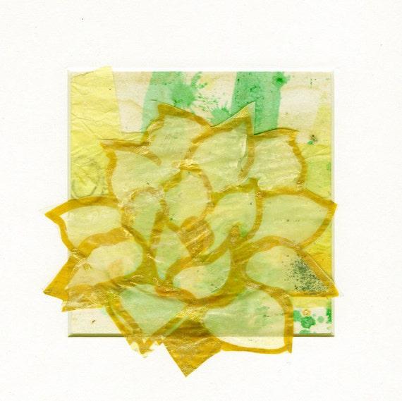 Items Similar To Buddhist Art Yellow Lotus, Original