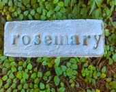RESERVE for ANNA: Handmade Stamped Cement Garden Word Stone/ zachary