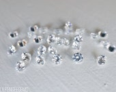 3mm cubic zirconia faceted gemstones. white clear CZ gem faceted diamond like loose gems sparkling cz