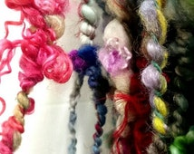 Pirate's Treasure - handspun super bulky artyarn plyed coils and wiggles.  Textured yarn for freeform knit, crochet, weaving supply - ooak y