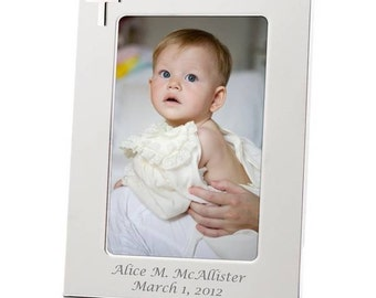 Personalized Silver Cross Photo Frame