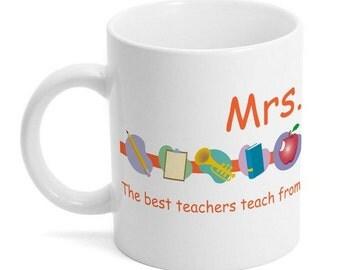 Customized Teacher Appreciation Ceramic Mug