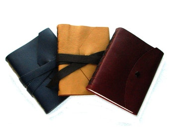 Customize Your Lined Journal - Choose your Leather & Thread colours - custom notebook, customized journal