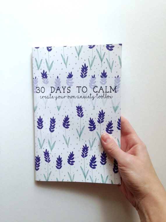 anxiety relief anxiety awareness anxiety aids journal notebook self help calm down kit 30 day challenge writing journal stress relief
