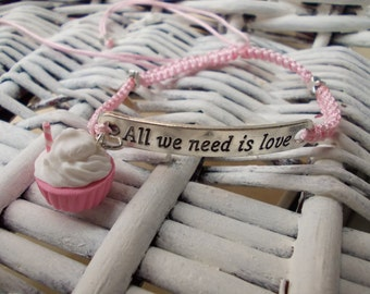 bracelet All we need is love