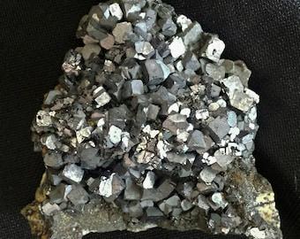 Mineral Specimen - Galena crystals - Borieva Mine, Madan, Smolyan Oblast, Bulgaria - geology - nearearthexploration