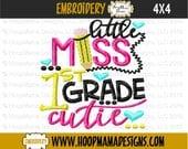 Little Miss First Grade Cutie, First Grade Cutie, First Grade Shirt, First Grade, Back To School, School Shirt