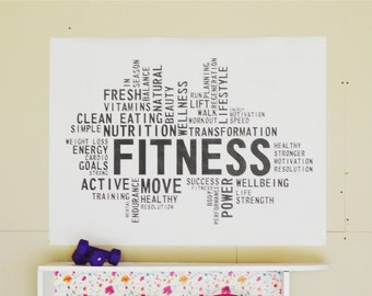 Gym Inspirational Quote Poster // 3 Sizes // Printable PDF // Instant Download