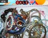 SALE 60% Off Destash lot of bracelets, wearable and craft lot N