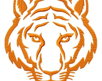 Tiger Face Down Embroidery Fill Designs 3 sizes INSTANT DOWNLOAD