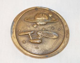 Vintage Star Trek belt buckle…Enterprise buckle...Space the final frontier…Indiana Metal Craft…NCC1701…T99.