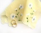 Bride's Handkerchief, Vintage Hankie, Flower Girl Gift, Something Old, Gift for the Bride, Wedding Shower Gift