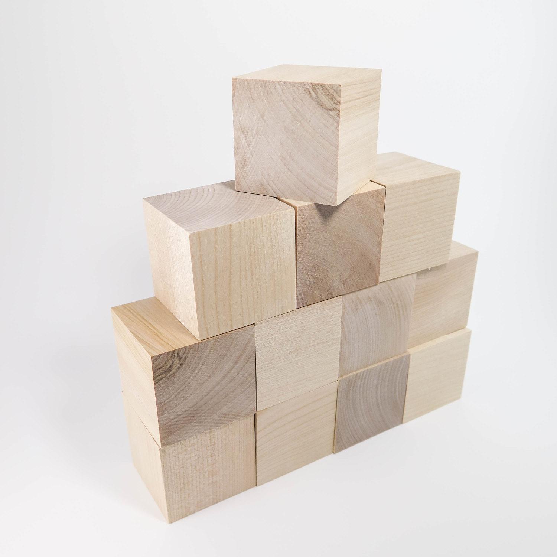 wood blocks 12 hardwood blocks 2 inch wood blocks for kids. Black Bedroom Furniture Sets. Home Design Ideas