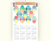 2016 Calendar color honeycomb grunge textures Calendar pastel colors A3 size 2016 Calendar graphic color 2016 calendar honeycomb 2016