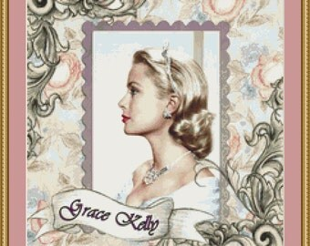 Grace Kelly Cross Stitch Pattern