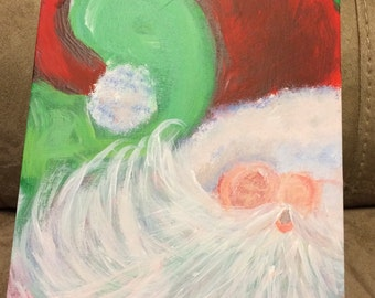 Christmas painting-santa claus