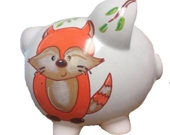 Furry Friendly Fox Piggy bank