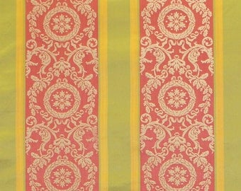 SCALAMANDRE MUSEUM PROJECT Stripe Silk Damask Fabric 10 Yards Special