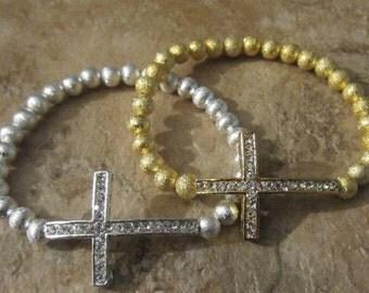 Stardust Cross Bracelet