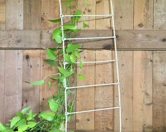 Vintage Iron Crib Railing Trellis Climbing Plant Trellis Shabby Garden Trellis