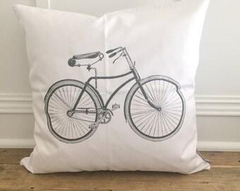 Vintage Bike Pillow Cover