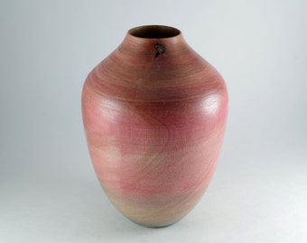Handmade Hollow Vessel made in Lignum Vitae Wood