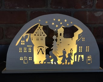 Christmas town schwibbogen lighted Christmas decoration