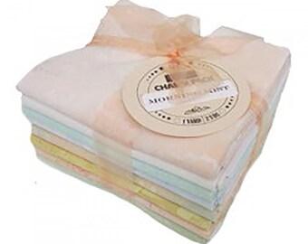 Morning Mist - Fossil Fern FQ Fabric Bundle of 8 - Total 2 yards