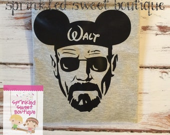 Mickey Man Inspired Breaking Bad Walt Hat Custom Women Men Adult Matching Family Vacation Trip Shirts