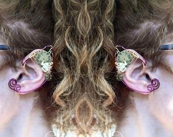 Elf Ears, Elf Earcuffs, Fairy Ears, Steampunk Elf Ears, Teapot Earrings