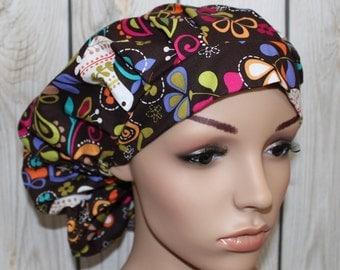 Birds of Norway, Bouffant Women's Scrub Hat, Surgical Scrub Hat, Scrub Cap, OR Nurses Hat