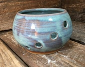 Yarn Bowl in Peacock Blue
