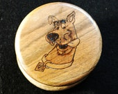 Herb Grinder - Woodburned Scooby Doo