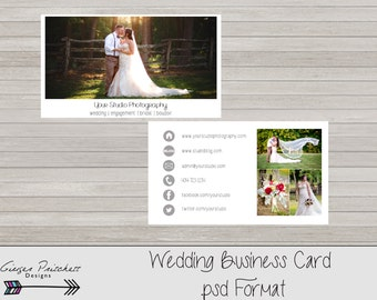 Wedding Photography Business Card Template- INSTANT DOWNLOAD