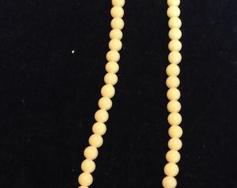 Yellow Glass Beads Choker