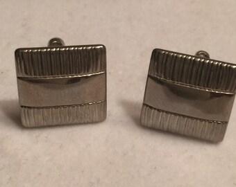 Silvertone cufflinks