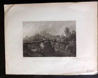 Hinton USA 1832 Antique Print. Head Waters of the Juniata