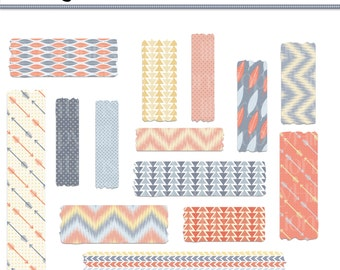 INSTANT DOWNLOAD - Tribal Washi Tape Clip Art - For Personal or Commercial Use - Digital Designs